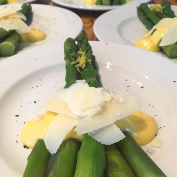 Asparagus with Hollandaise and Parmesan