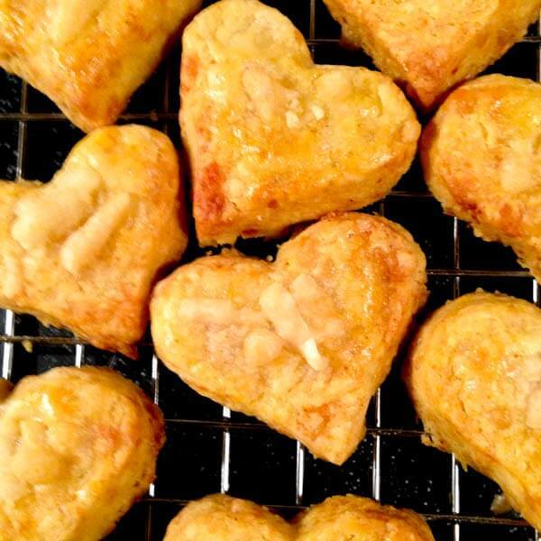 Parmesan Toasted Hearts